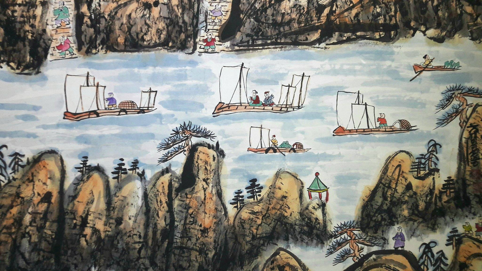 Fang Zhaolin in mostra, particolare de Scena Lavorativa