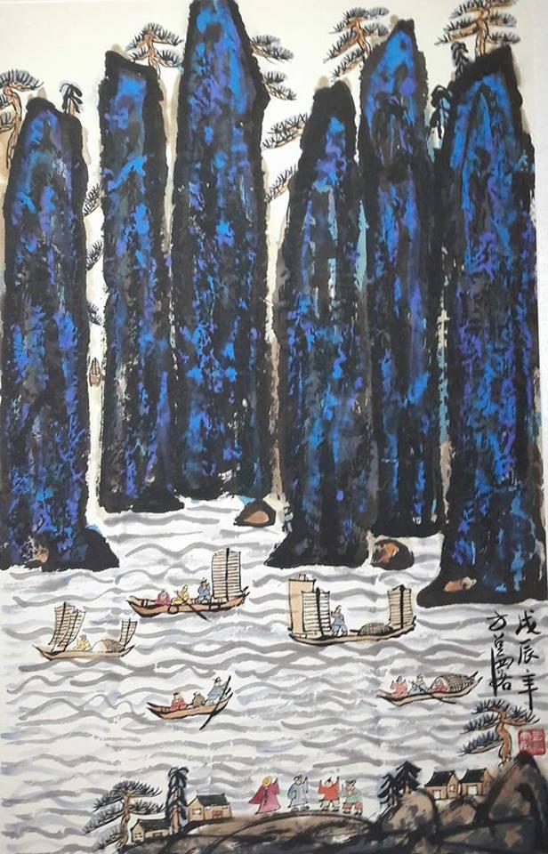 Fang Zhaolin, il dipinto Montagne e Fiumi