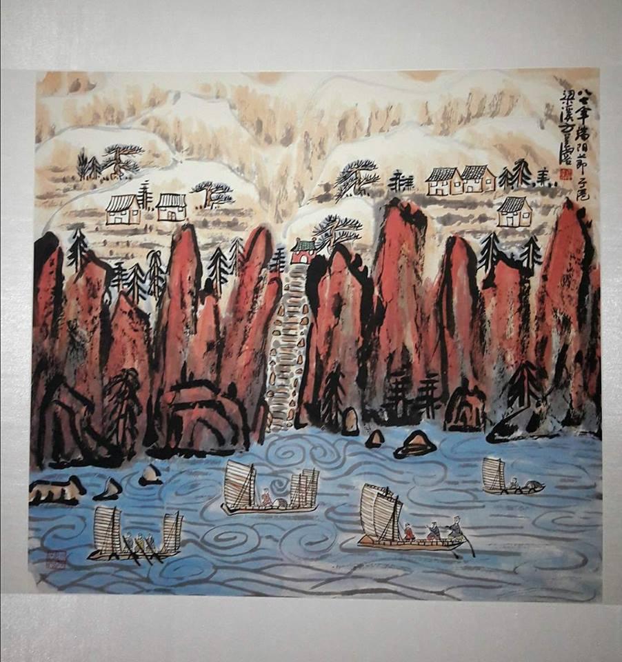 Fang Zhaolin in mostra a Milano, montagne calligrafiche