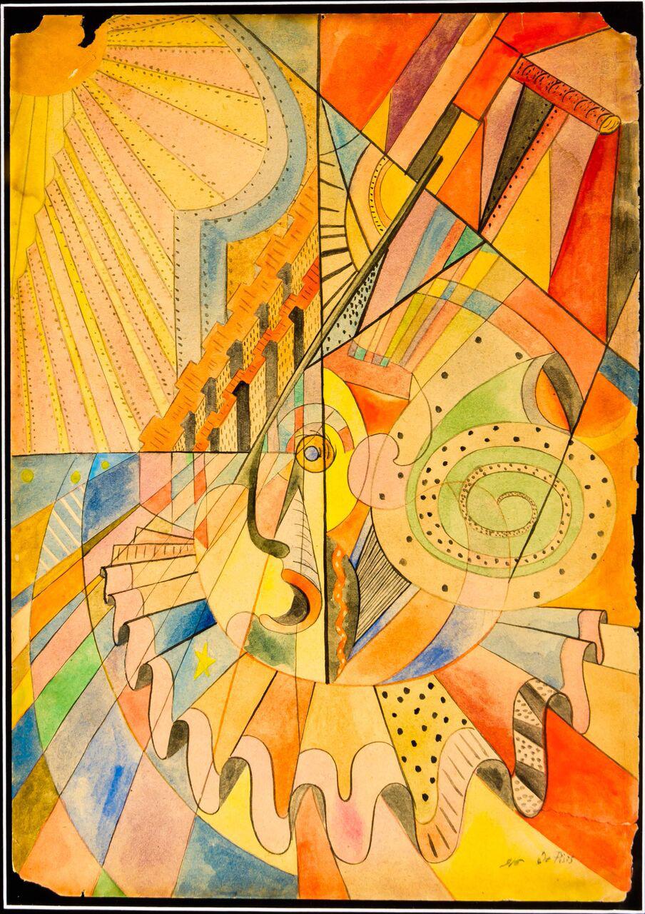 Filippo De Pisis_Composizione (Pagliaccio) 1916