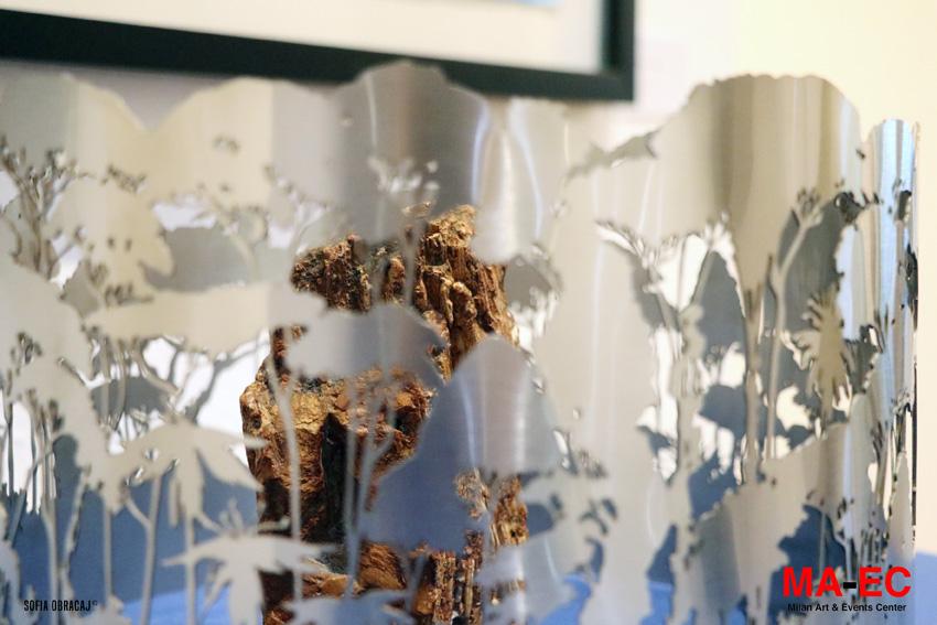 Particolare di un paesaggio scultoreo con minerale da MaEc