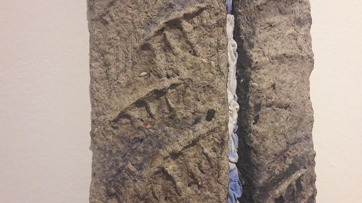 Zoom sui materiali organici che si fanno di pietra per la mostra I confini siamo noi.