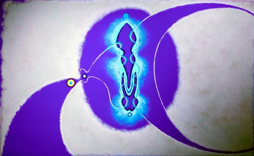 Black Light Art. Particolare di Alambic di Nino Alfieri alla luce di Wood