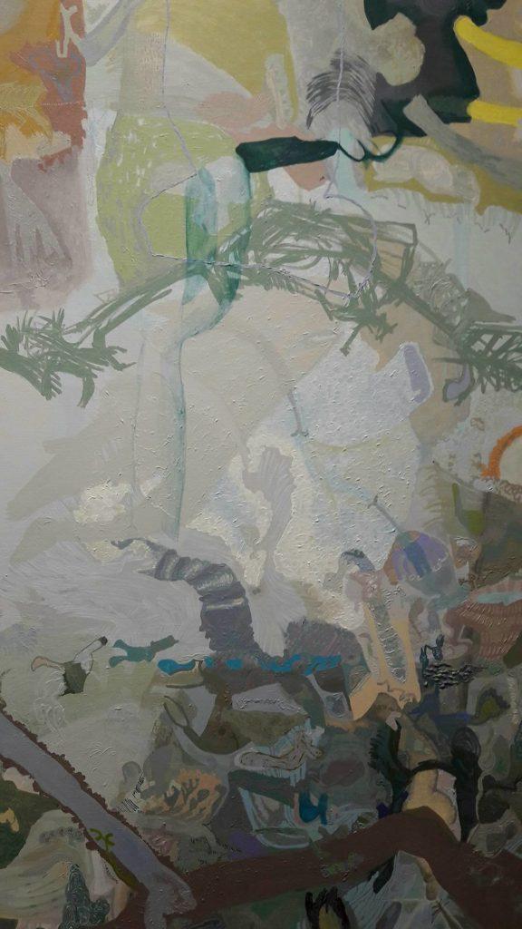 Geometria di 906090. Un dipinto di Victoria Stoian in mostra presso la galleria Giuseppe Pero
