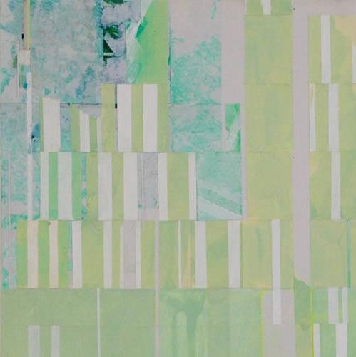 Geometria in un particolare di un dipinto di Viviana Valla