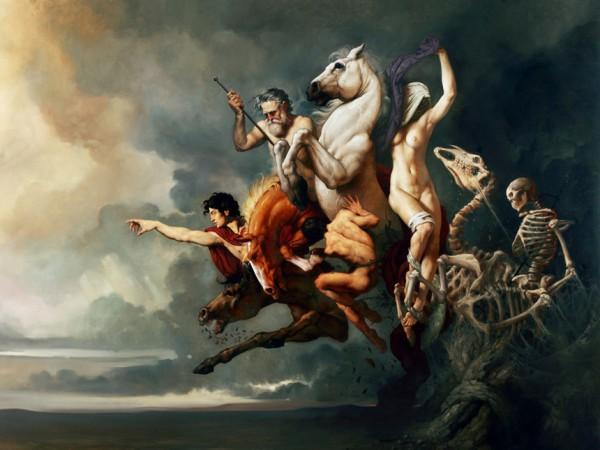 Pittura di Roberto ferri, I cavalieri dell'Apocalisse