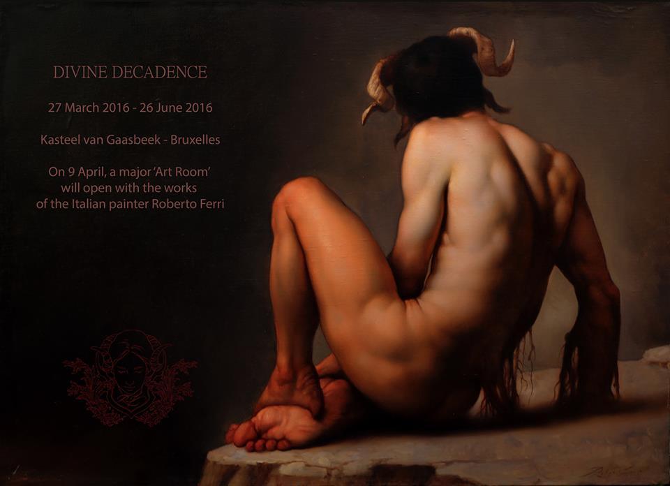 Pittura di Roberto Ferri in mostra a Bruxelles