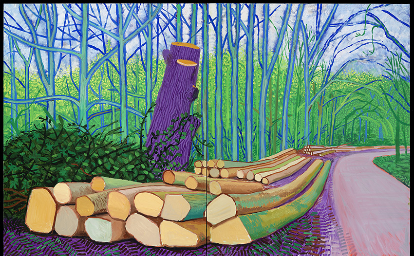 David Hockney, Felled Trees on Woldgate, 2008,