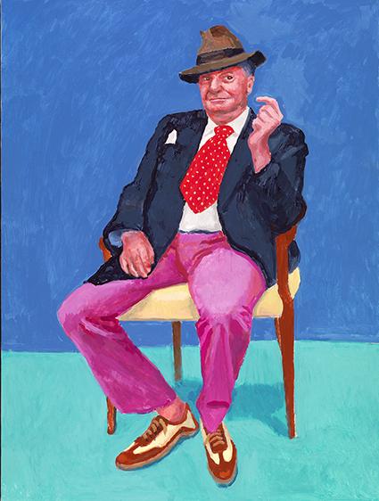 David Hockney, uno dei suoi 82 ritratti in mostra nel 2016 alla Royal Academy