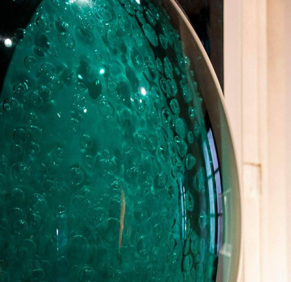 Polimero Arte con quadridimensionale verde di Fulvia Levi Bianchi