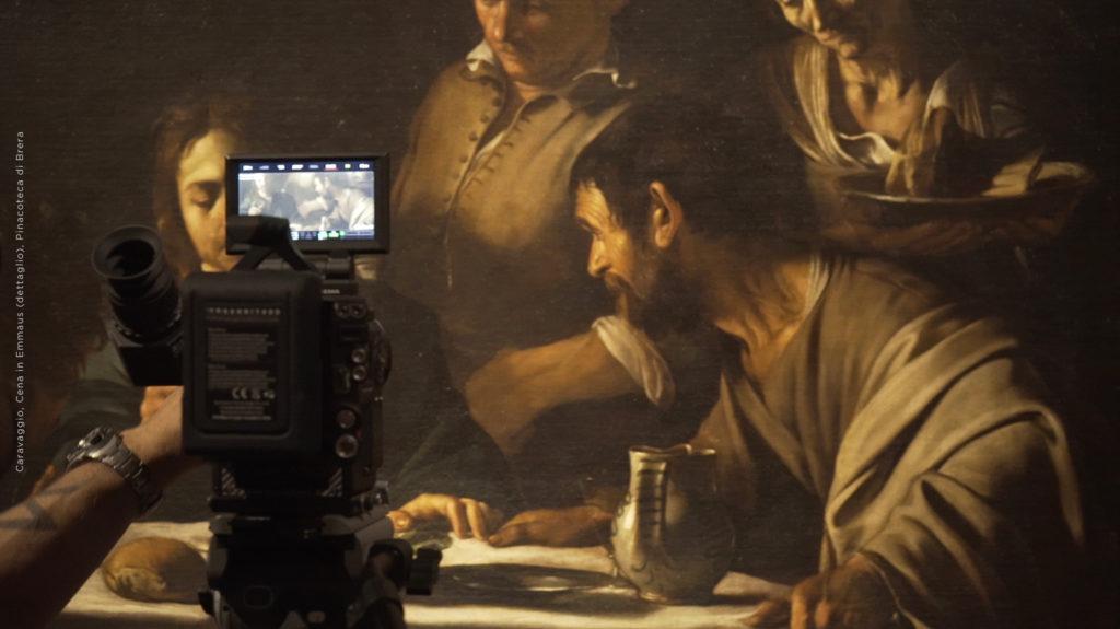 Caravaggio al cinema. Dettaglio di Cena in Emmaus