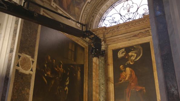 Caravaggio al cinema. La cappella Contarelli a Roma
