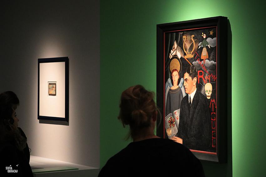 Frida Kahlo e l'entourage artistico in un suo dipinto