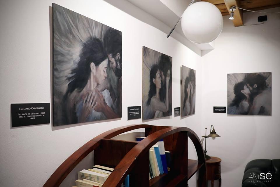Immagini dall'Esistenza. vista della sala di Capotorto nella psico-gallery italiana Anisé
