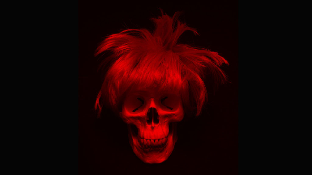 Guccione e il teschio di Andy Warhol