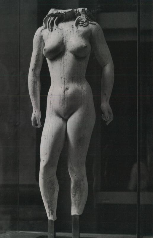 Agrigento al Museo Messina, torso femminile di Francesco Messina