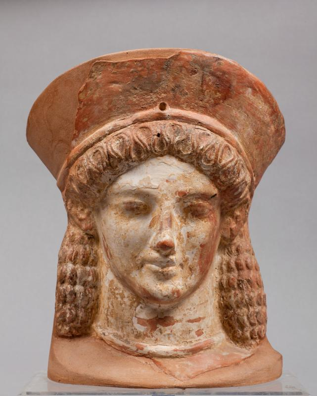 Agrigento e i suoi reperti al Museo Messina. Testa fittile in terracotta