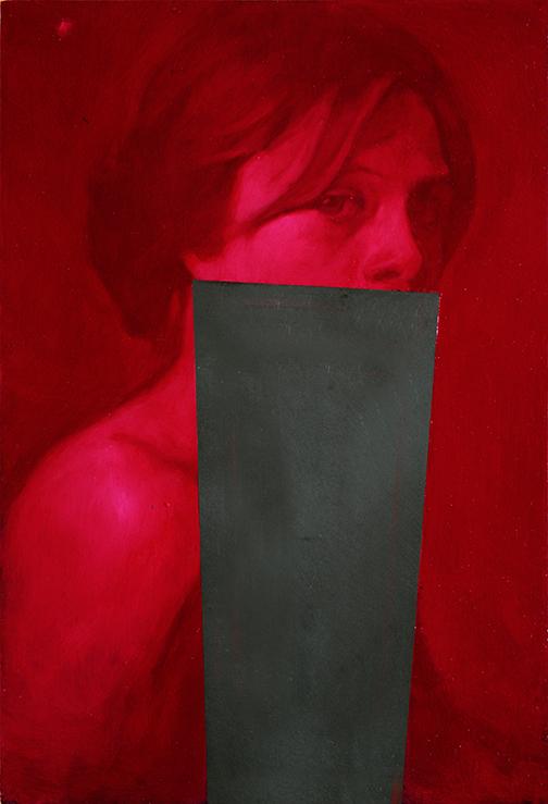 Ricerca sull'enigma. Stille, dipinto di Simone Geraci