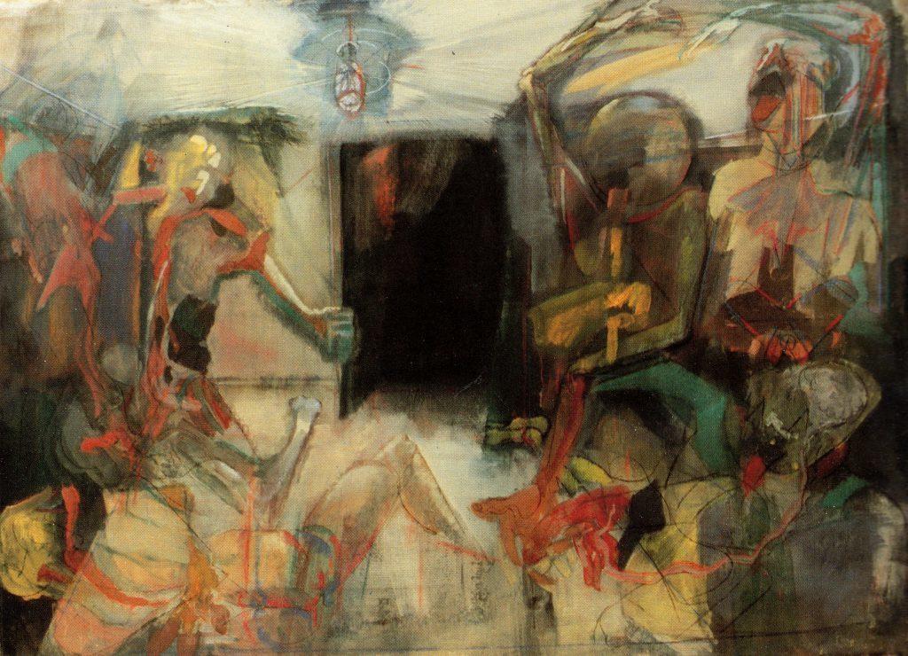 Il Museo Civico Floriano Bodini. dipinto di Piero Leddi