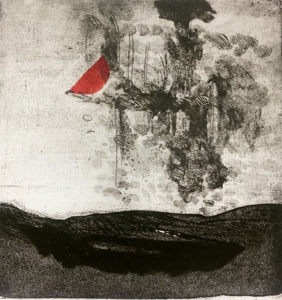 Incisione di Debora Antonello. In un'isola