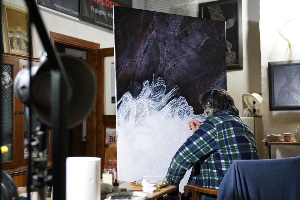 Giuseppe Billoni. L'artista nel suo studio