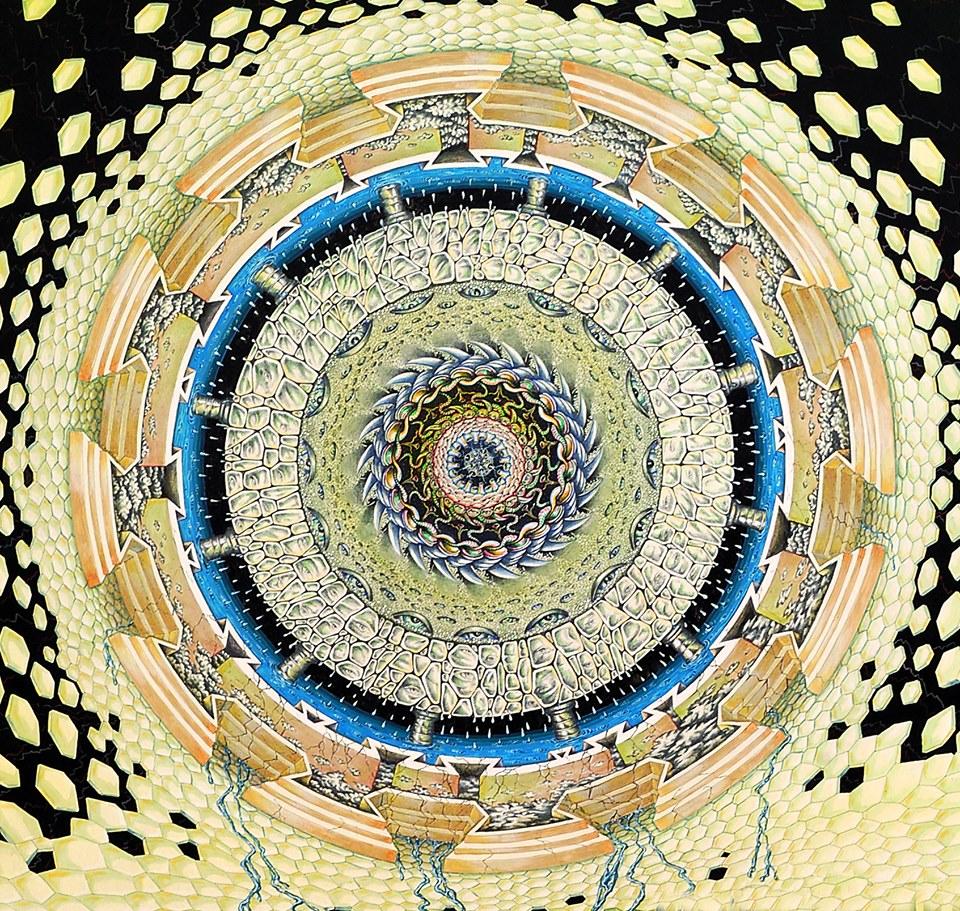 Giuseppe Billoni. Arte criptica. Ruota cosmica, Uragano