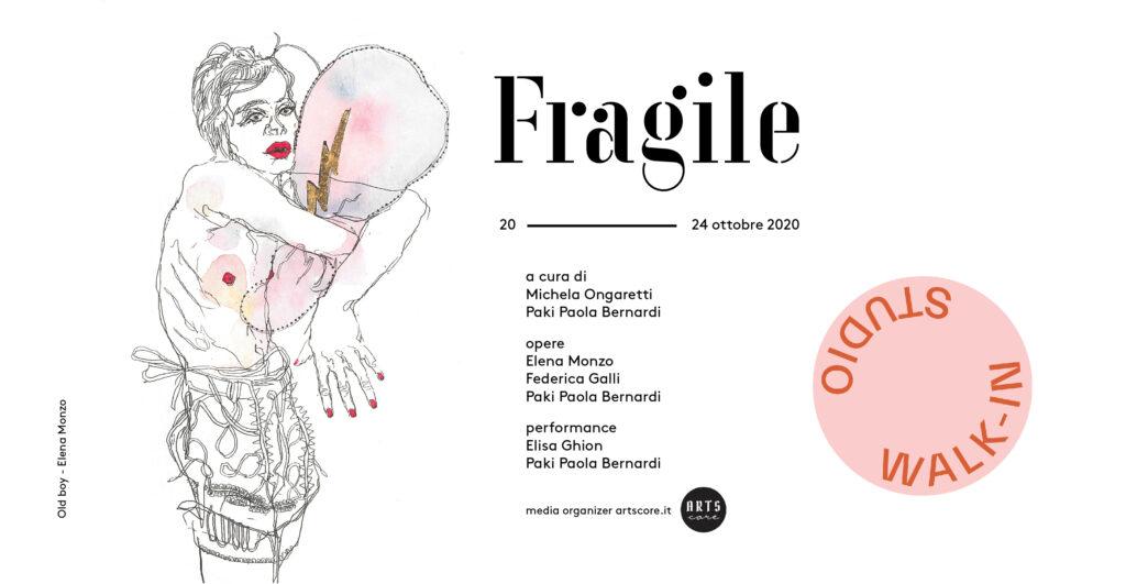 Walk-in Studio 2020-locandina di FRAGILE con Elena Monzo