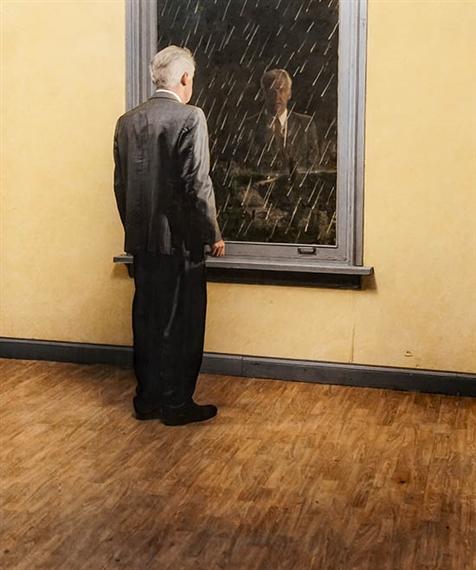 Teun Hocks. Man at the window. artscore.it