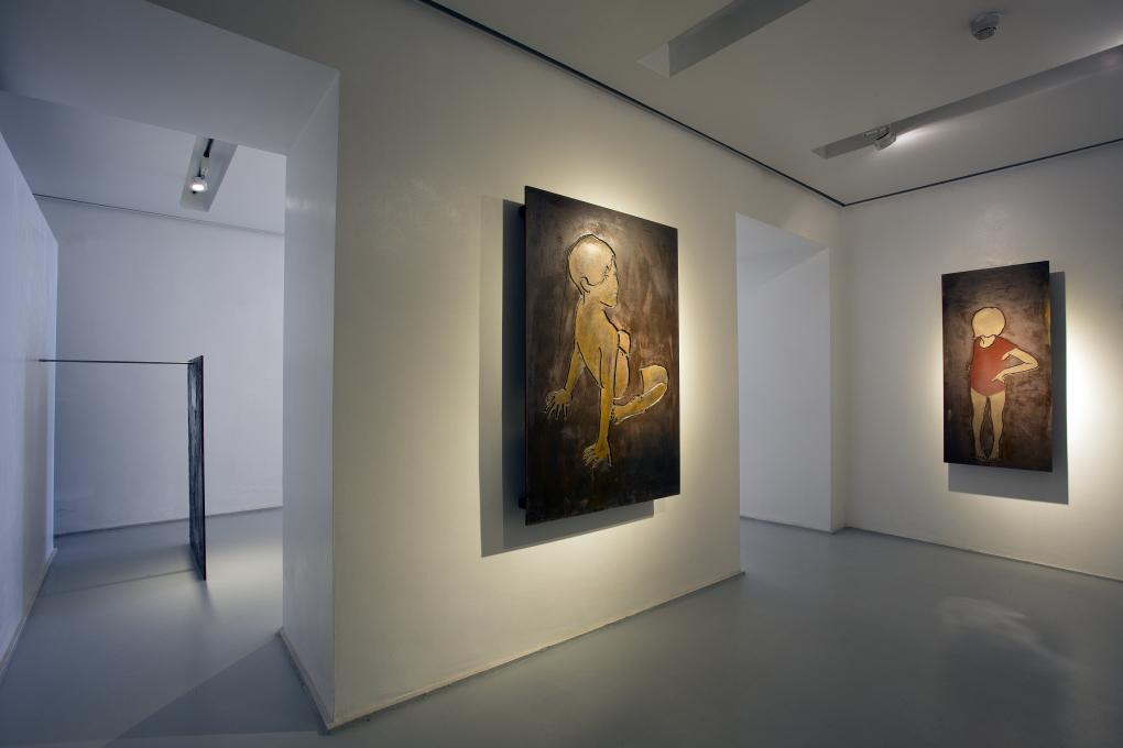 Tracce di Valerio Berruti. Vista della mostra da MarcoRossi artecontemporanea a Milano