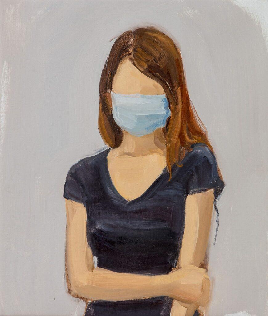 Volti senza identità. Gideon Rubin, Senza Titolo, 2020, olio su lino- artscore.it