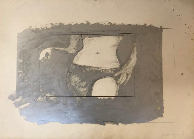 Giosetta Fioroni, opera a matita e smalto alluminio, su carta. artscore.it