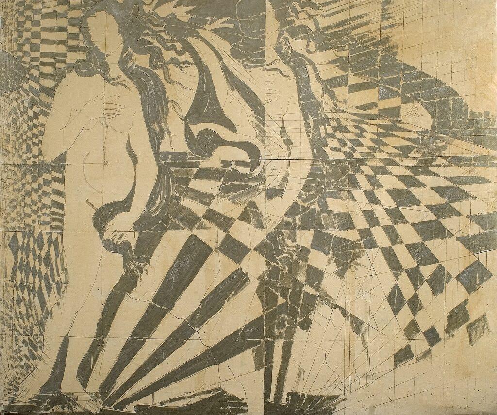 Giosetta Fioroni reinterpreta la venere di Botticelli- artscore.it