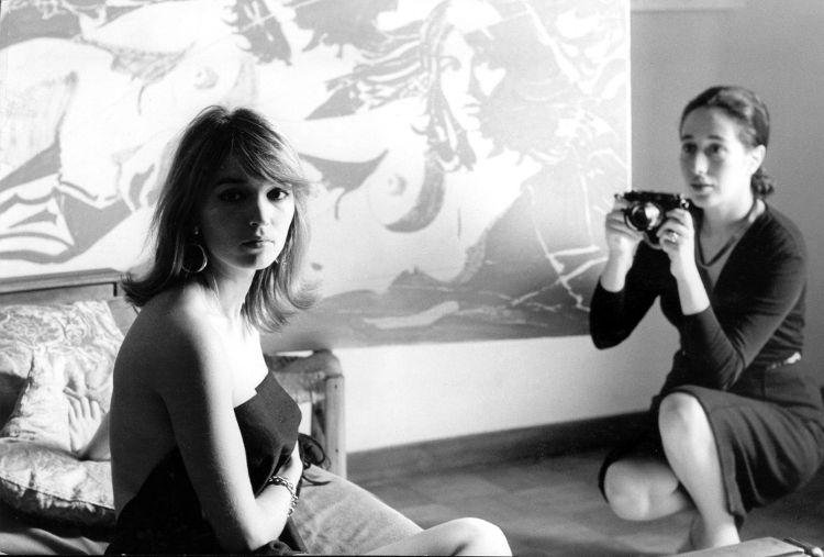Giosetta Fioroni nel 1968 fotografa la modella del dipinto. artscore.it