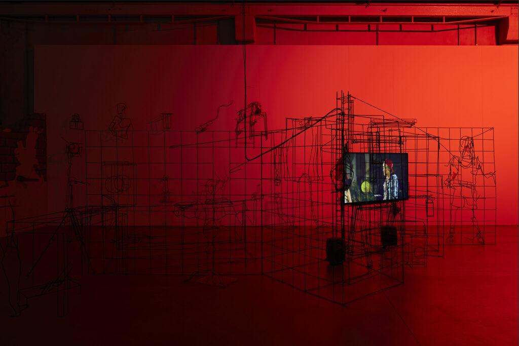Hangar Bicocca,Digital Mourning di Neïl Beloufa 4